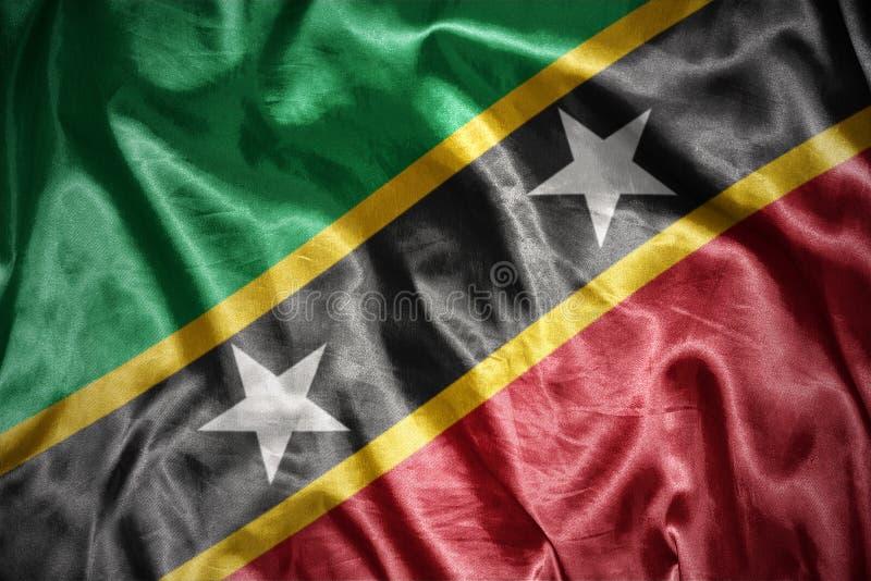 Glänsande flagga för helgon Kitts och Nevis vektor illustrationer
