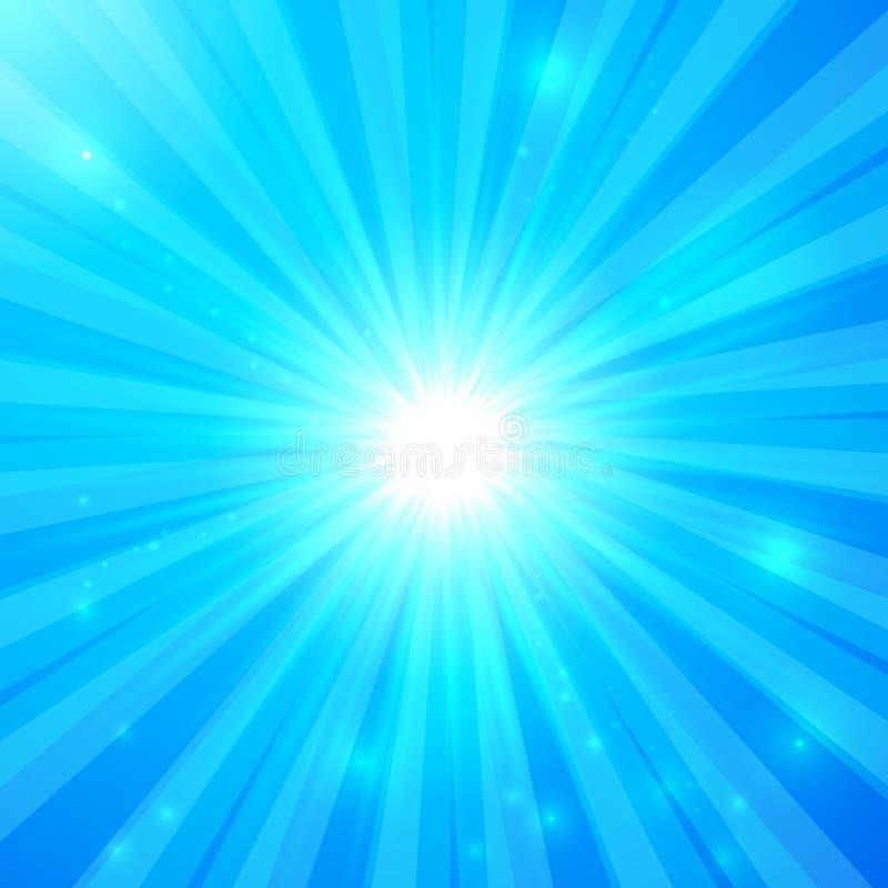 Glänsande ljus bakgrund för blå vektor stock illustrationer