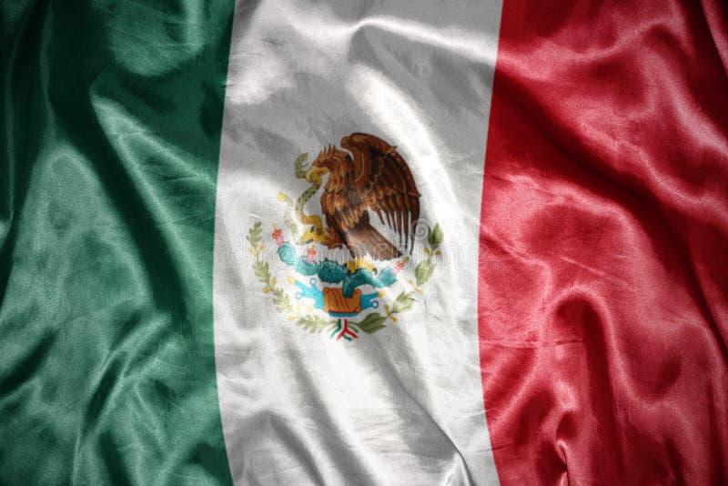 glänsande mexikansk flagga royaltyfri foto
