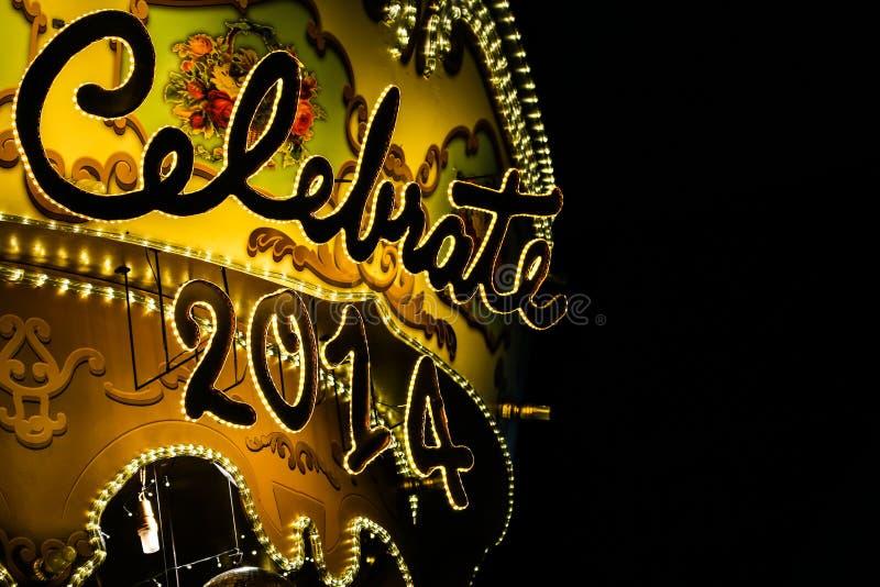 Glänzend und Funkeln feiern Sie Signage stockbild