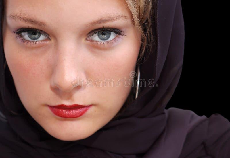 Glänzende Augen stockfoto