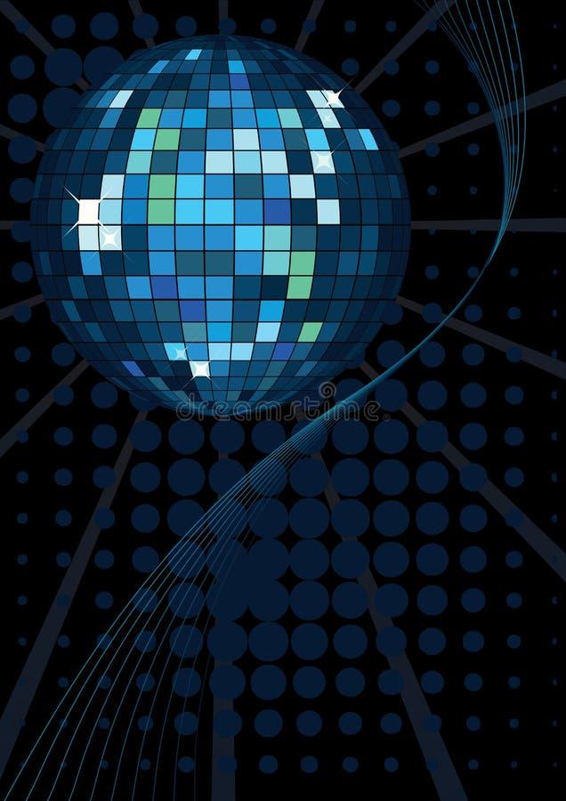 Glänzende Discokugel lizenzfreie abbildung