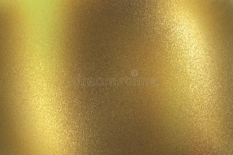 Gl?nzende dunkle gelbes Metallwand, abstrakter Beschaffenheitshintergrund stock abbildung