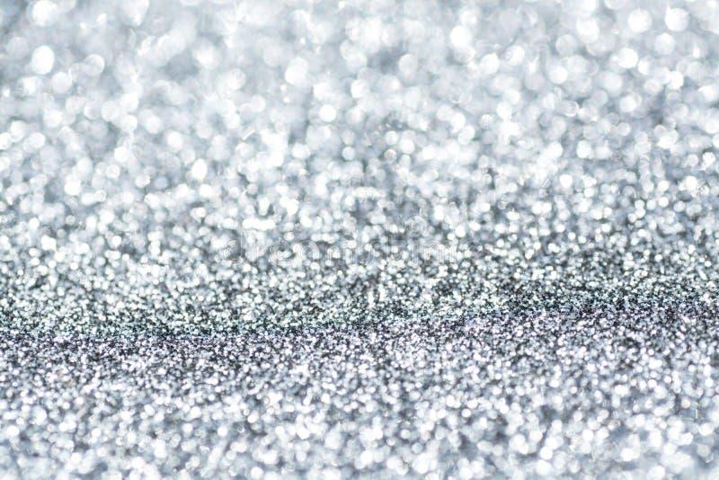 Glänzende funkelnde silberne Hintergrundzusammenfassung lizenzfreies stockbild