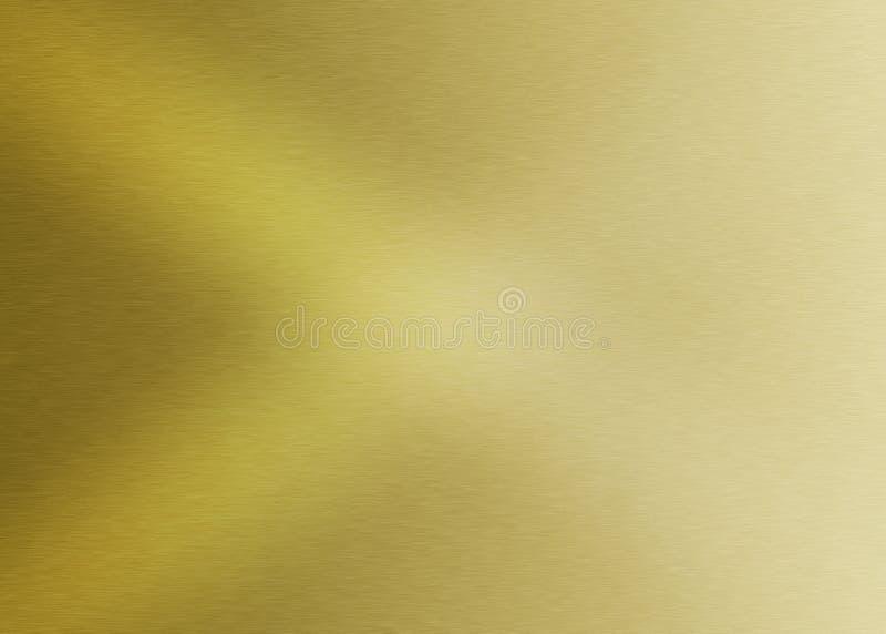 Glänzende gebürstete goldene Metalloberfläche Gradated für abstrakten Hintergrund lizenzfreie stockfotografie