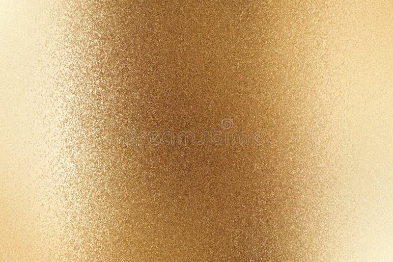Glänzende gebürstete metallische Bronzewand, abstrakter Beschaffenheitshintergrund stock abbildung