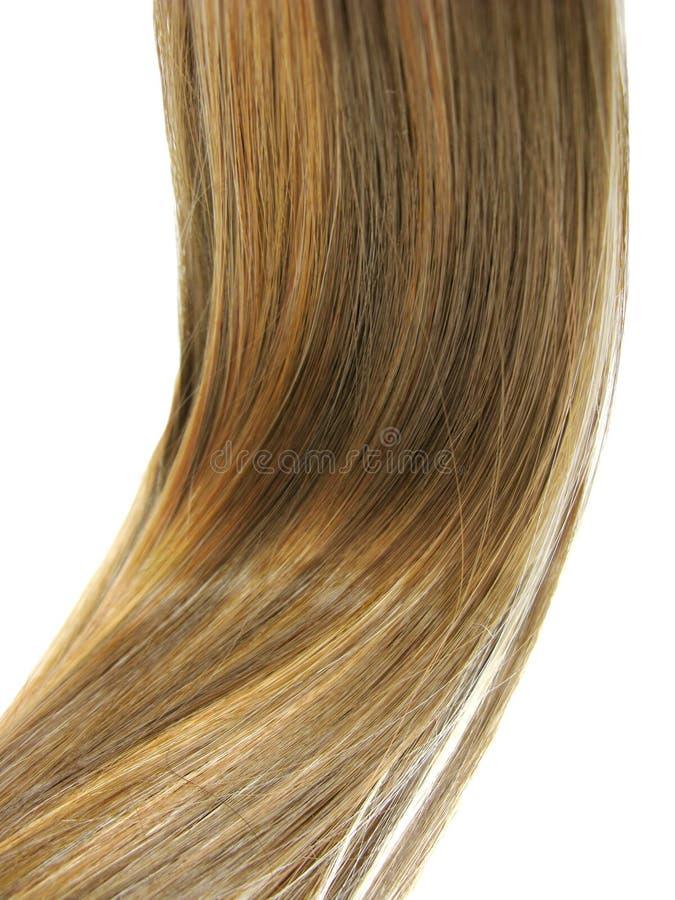 Glänzende Haarwelle stockfoto