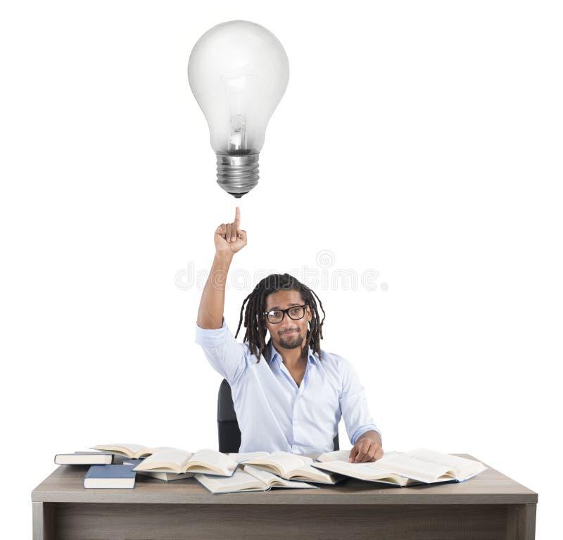 Glänzende Idee des Lehrers lizenzfreie stockfotografie