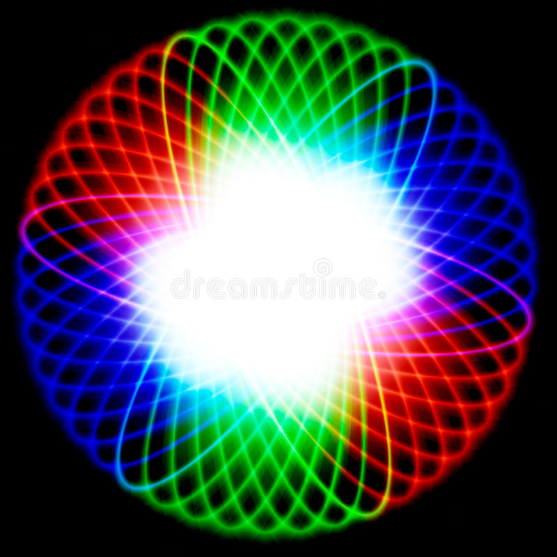 Glänzende Schüssel mit Farbenspektrum lizenzfreie abbildung