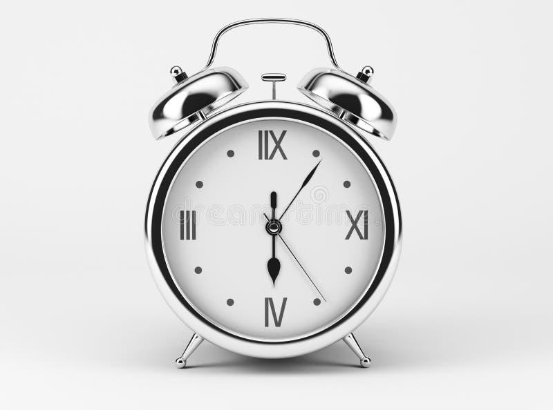 Glänzende Uhr Chromes stock abbildung
