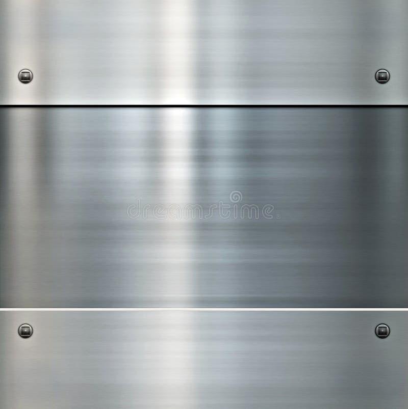 Glänzender aufgetragener Metallhintergrund lizenzfreie abbildung
