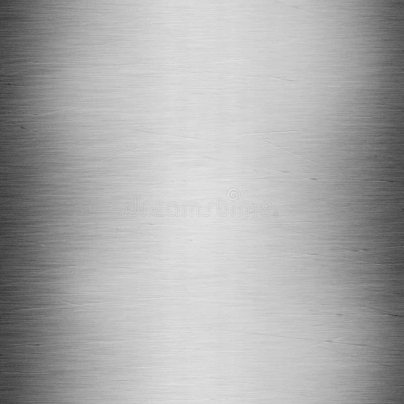 Glänzender aufgetragener Stahl mit Kratzern lizenzfreies stockbild
