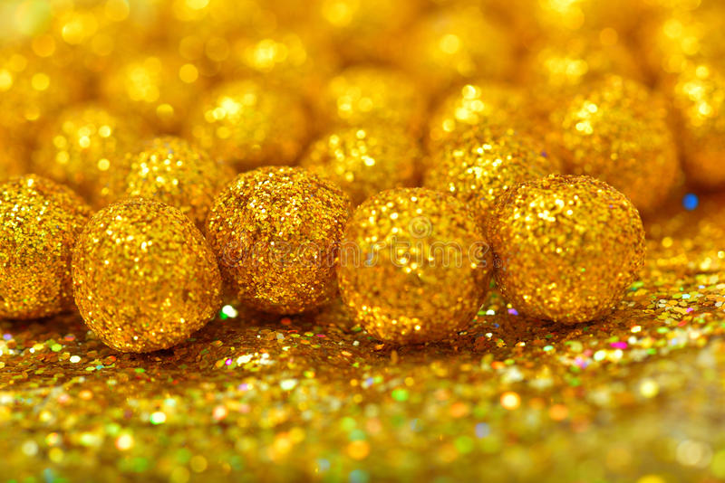 Glänzender Bereich gemacht vom goldenen Funkeln mit Scheinen und grellem Glanz stockfoto