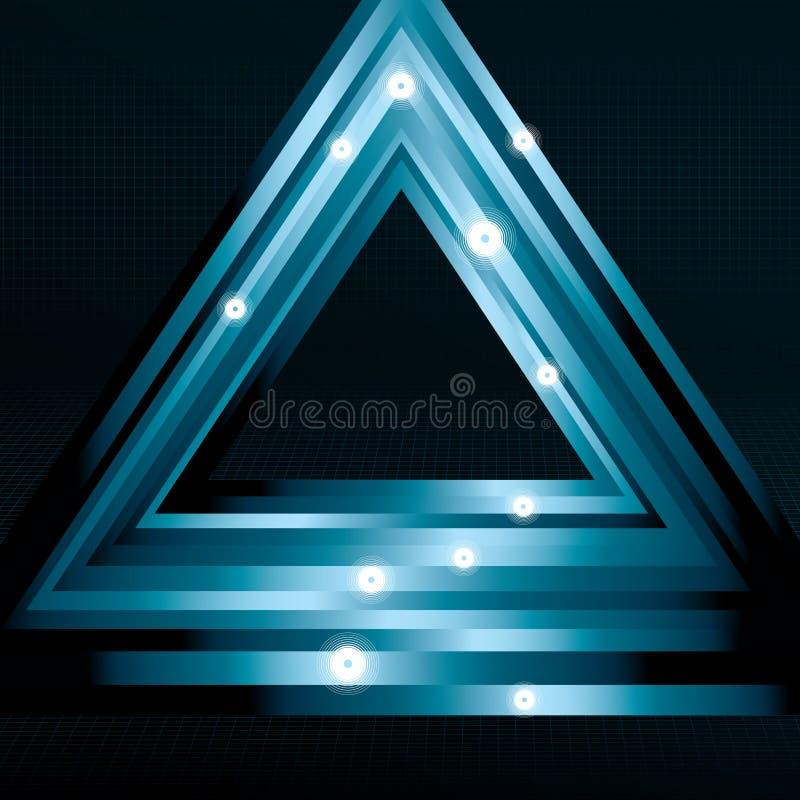Glänzender Dreieckhintergrund lizenzfreie abbildung