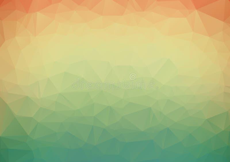 Glänzender dreieckiger Hintergrund des dunkelorangefarbigen Vektors Glänzende polygonale Illustration, die aus Dreiecken bestehen vektor abbildung