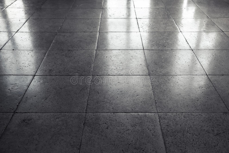 Glänzender grauer Steinboden Tiling, Hintergrund lizenzfreies stockbild