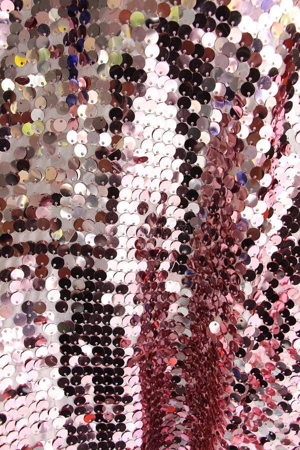 Glänzender Hintergrund des Gewebeskala-Funkelns stockbild
