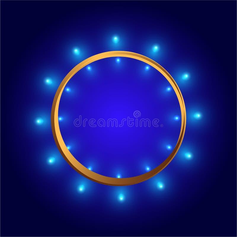 Glänzender Kreis des runden Rahmens des Vektors stock abbildung