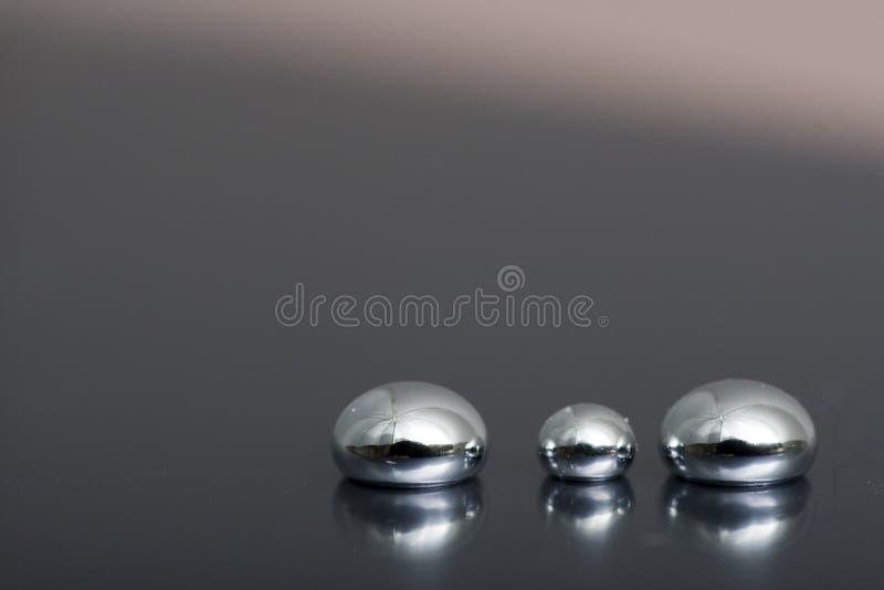 Glänzender Mercury lizenzfreie stockfotografie