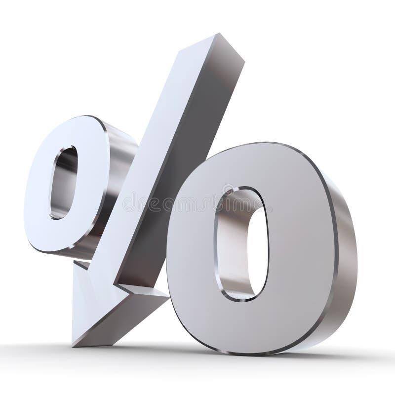 Glänzender Prozentsatz unten vektor abbildung
