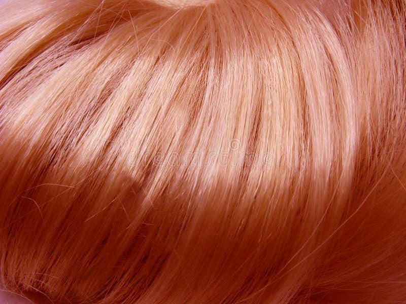 Glänzender roter Haarbeschaffenheitshintergrund stockbild