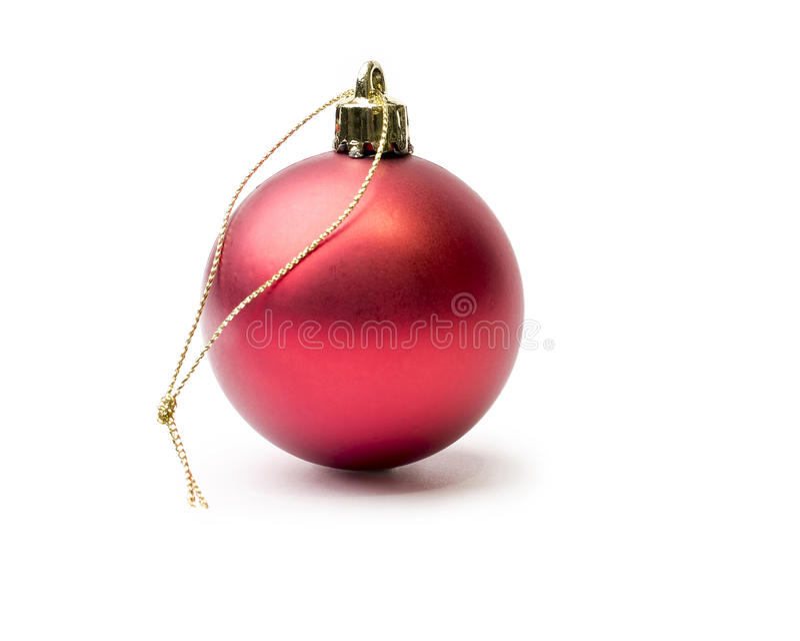 Glänzender roter Weihnachtsflitter zurück lokalisiert auf einem Reinweiß lizenzfreies stockfoto