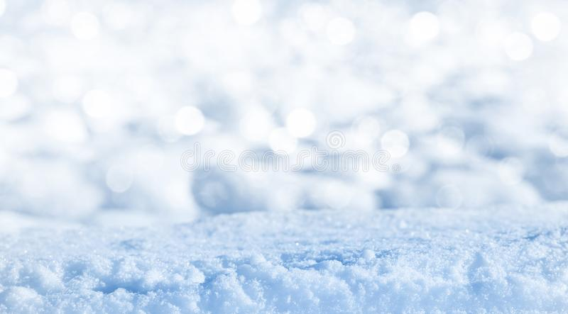Glänzender sauberer Schnee stockbilder