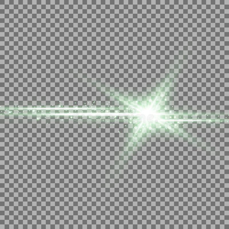 Glänzender Stern mit einem stardust, grüne Farbe lizenzfreie abbildung