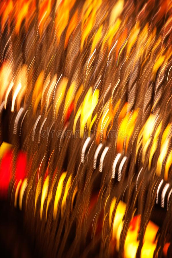 Glänzender Vegas in der Orange und im Gelb stockbilder