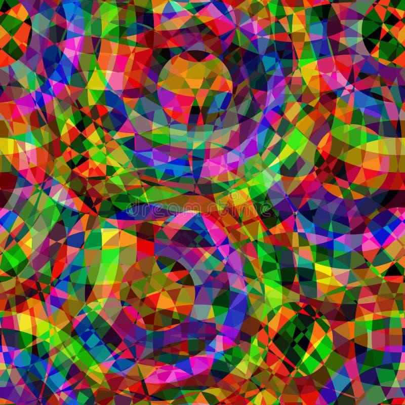 Glänzendes buntes nahtloses Muster lizenzfreie stockbilder