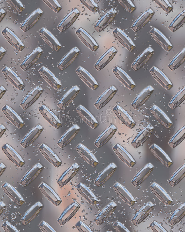 Glänzendes Chrom diamondplate lizenzfreie abbildung