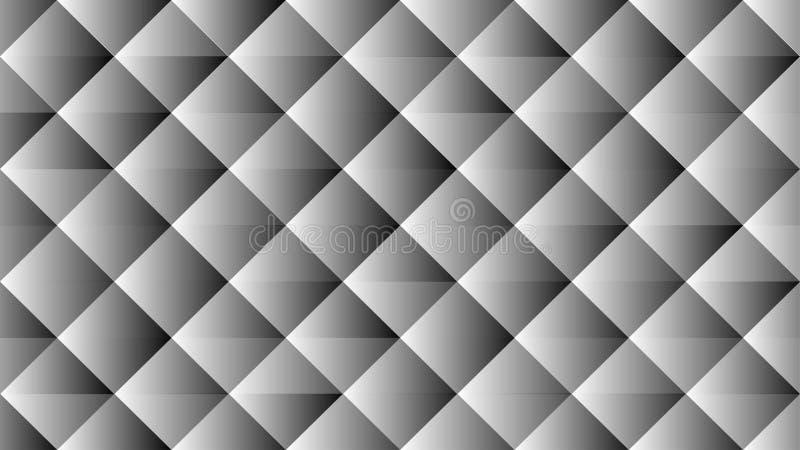 Glänzendes Grey Geometric Background mit diagonalem Quadrat-Muster vektor abbildung