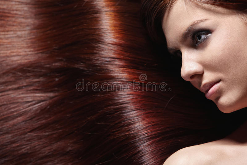 Glänzendes Haar lizenzfreie stockbilder