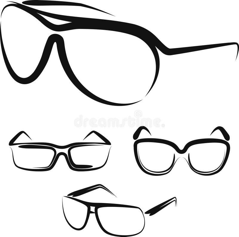 Gläser lizenzfreie abbildung