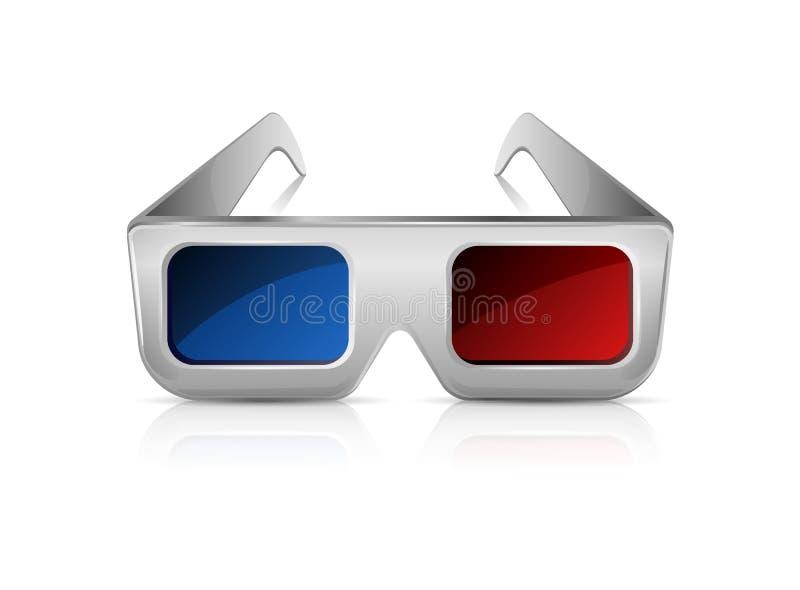 Gläser 3D vektor abbildung