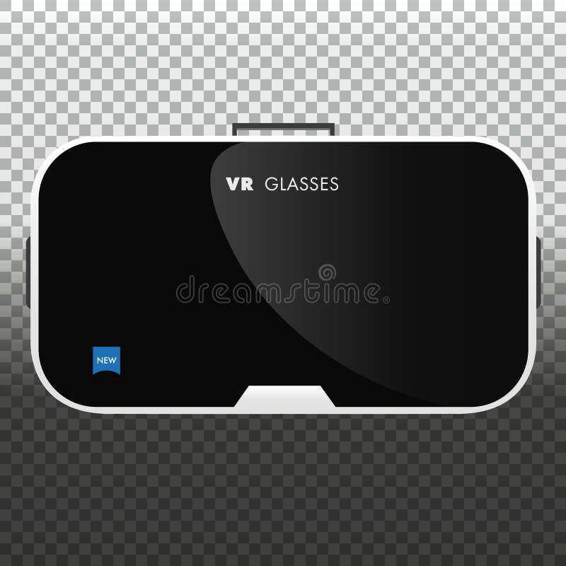 Gläser der virtuellen Realität VR-Technologie Auch im corel abgehobenen Betrag lizenzfreie abbildung