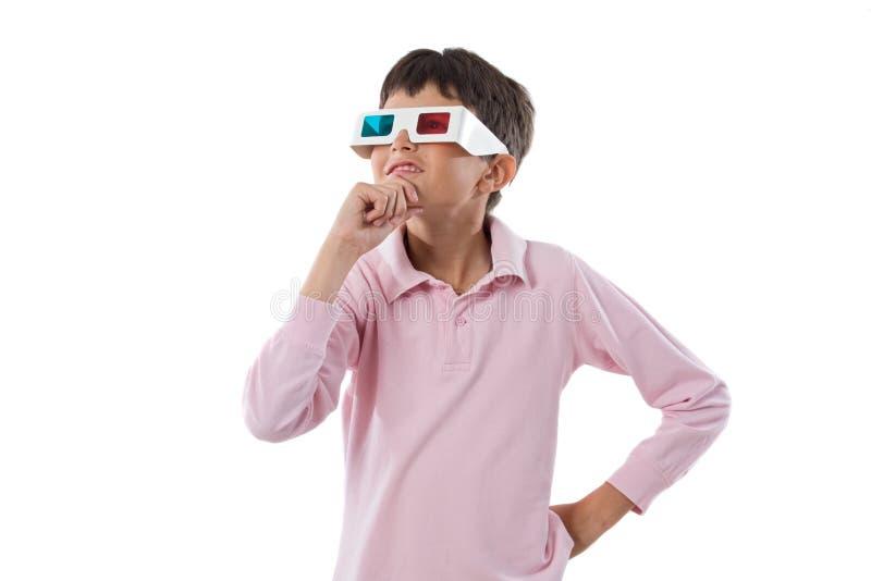 Gläser des Kind Whit 3d stockbilder
