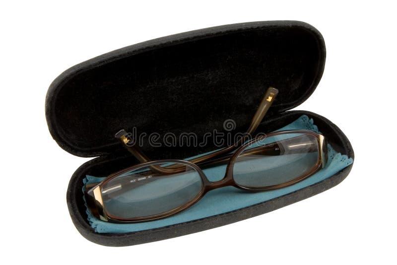 Gläser in einem Fall lizenzfreie stockfotos