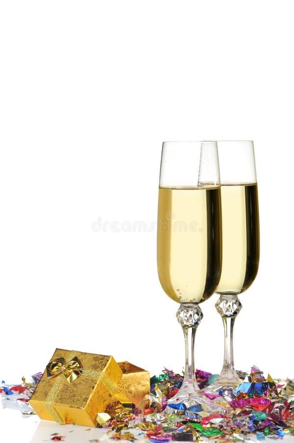 Gläser eines Champagners stockfotografie