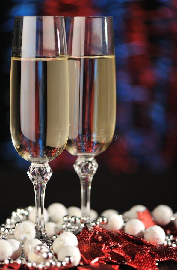 Gläser eines Champagners stockfotos