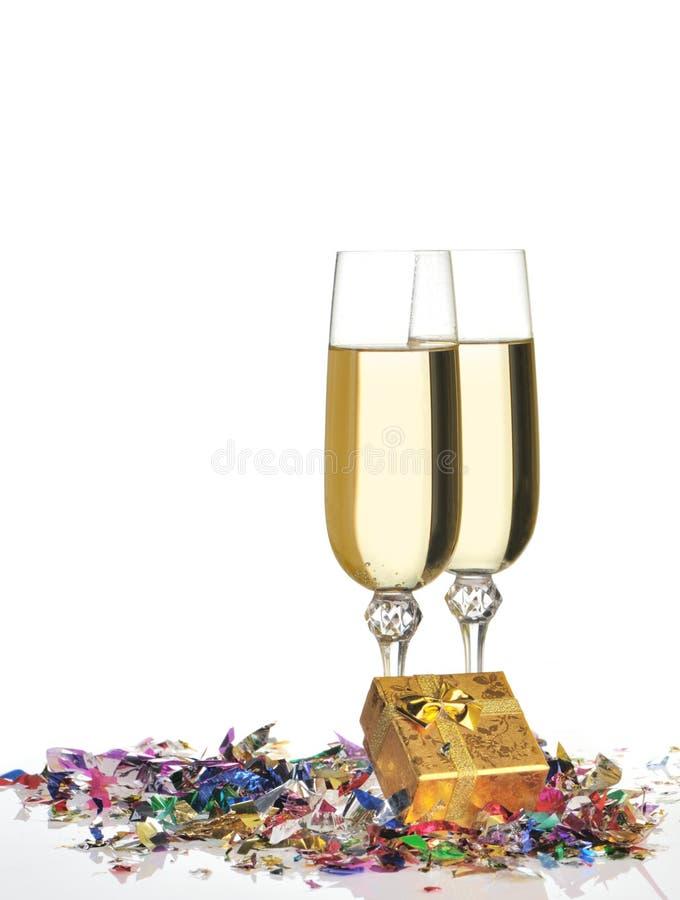 Gläser eines Champagners stockfoto