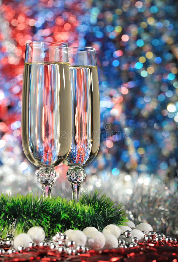 Gläser eines Champagners lizenzfreies stockbild