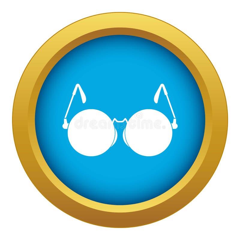 Gläser für blauen Vektor der blinden Ikone lokalisiert stock abbildung