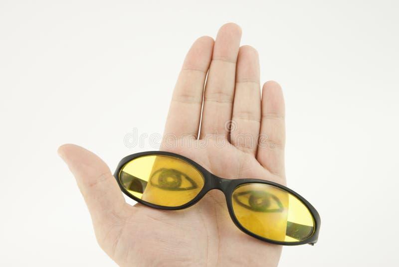 Gläser konzipieren Ihr Gesicht stockfotos