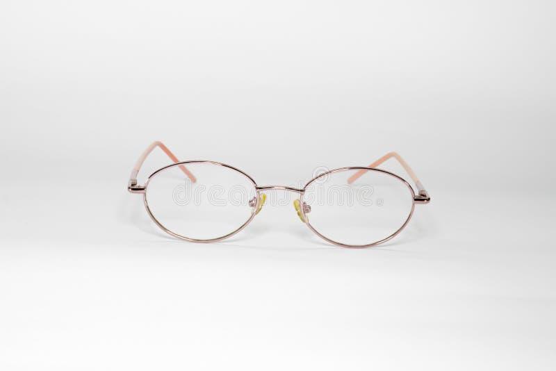 Gläser lokalisiert auf Weiß lizenzfreies stockfoto