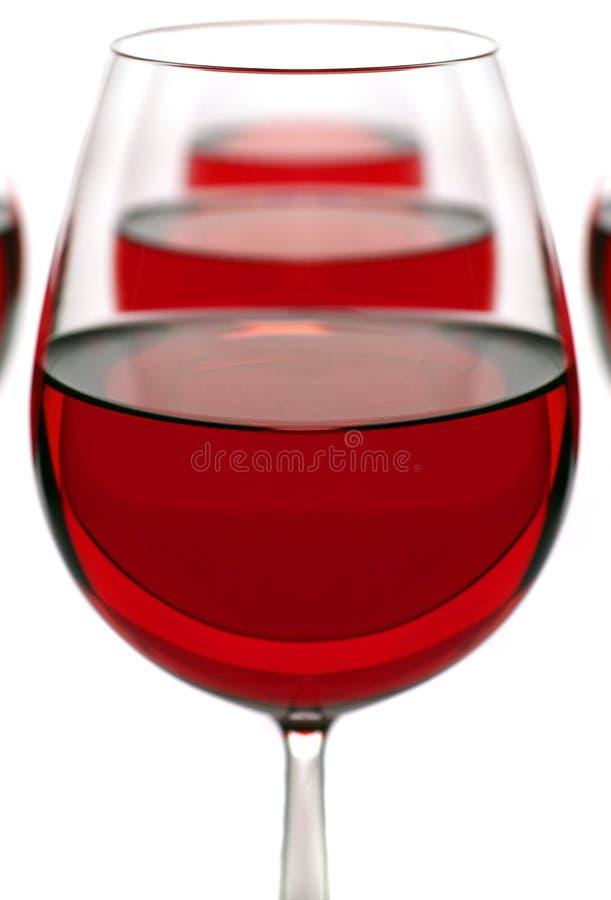 Gläser mit einem Rotwein stockfotos