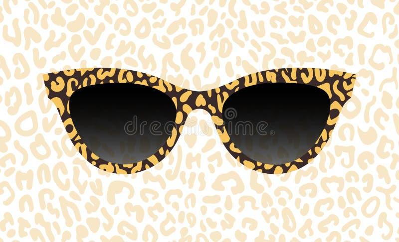 Gl?ser, Schauspielvektorzusammenfassungs-Leopardbeschaffenheit r Schwarze Sammlung der zus?tzlichen Kunst k?hl lizenzfreie abbildung