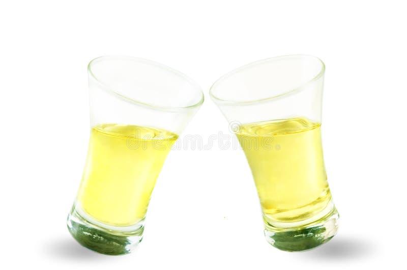 Gläser Tequilaalkohol lokalisiert lizenzfreie stockbilder