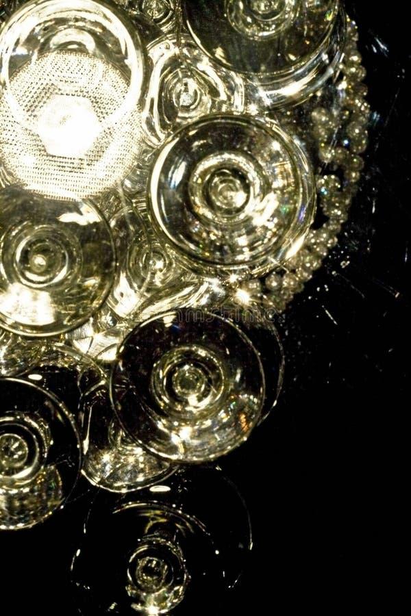 Gläser u. Leuchten stockfotos