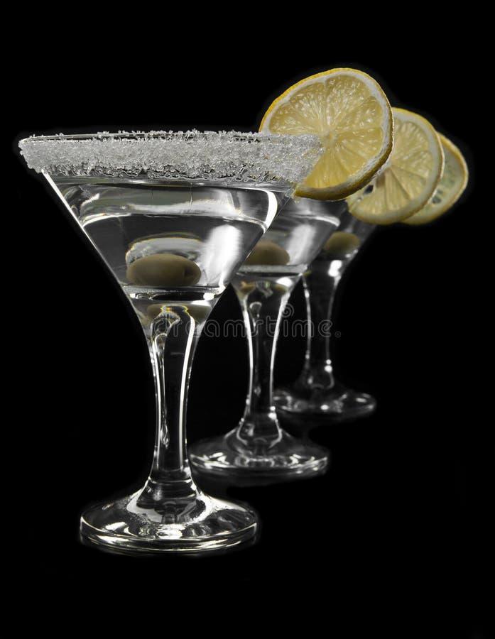 Gläser von Martini lizenzfreies stockbild